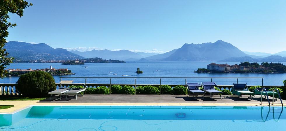 Italien, Lago Maggiore, Villa Barberis:<br />Traumhafte Turmwohnung mit einzigartigem Seeblick.